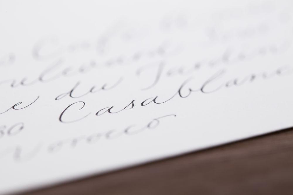 Kalligraphie - Adressen auf Kuverts 026