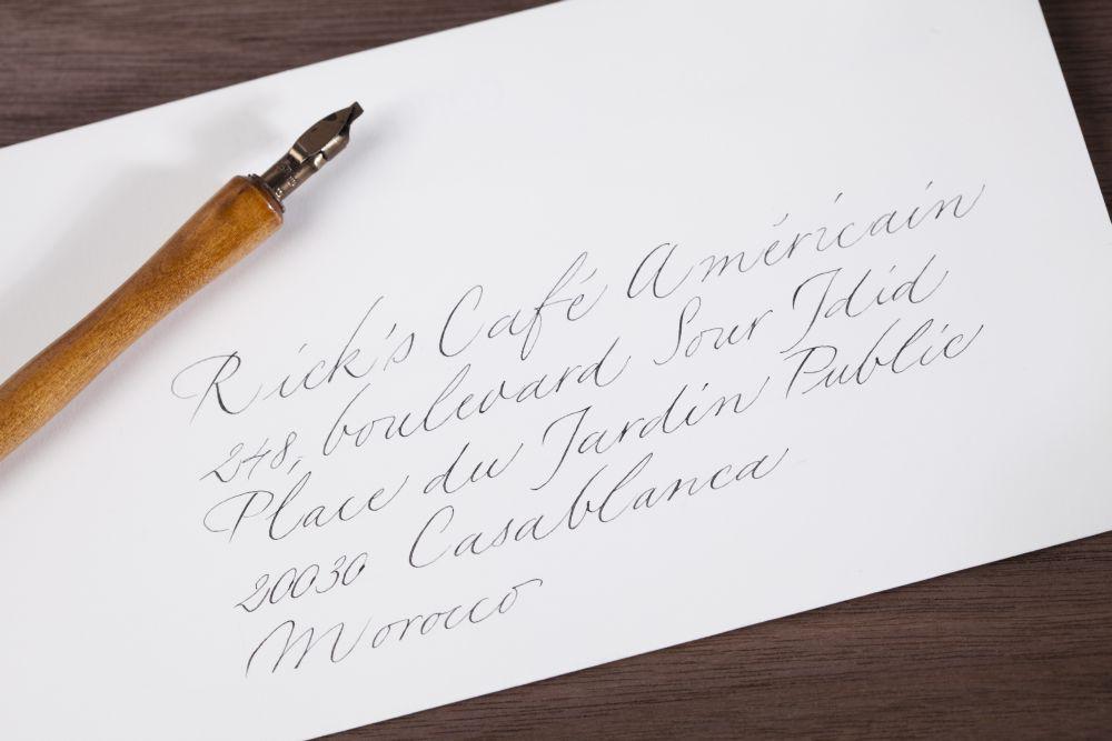 Kalligraphie - Adressen auf Kuverts 027