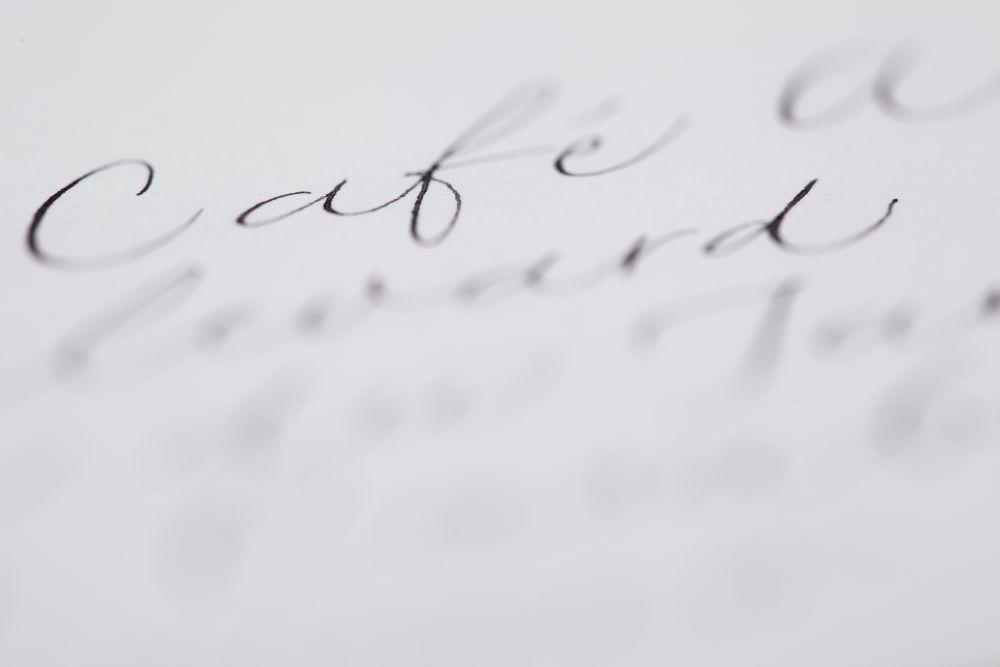 Kalligraphie - Adressen auf Kuverts 029