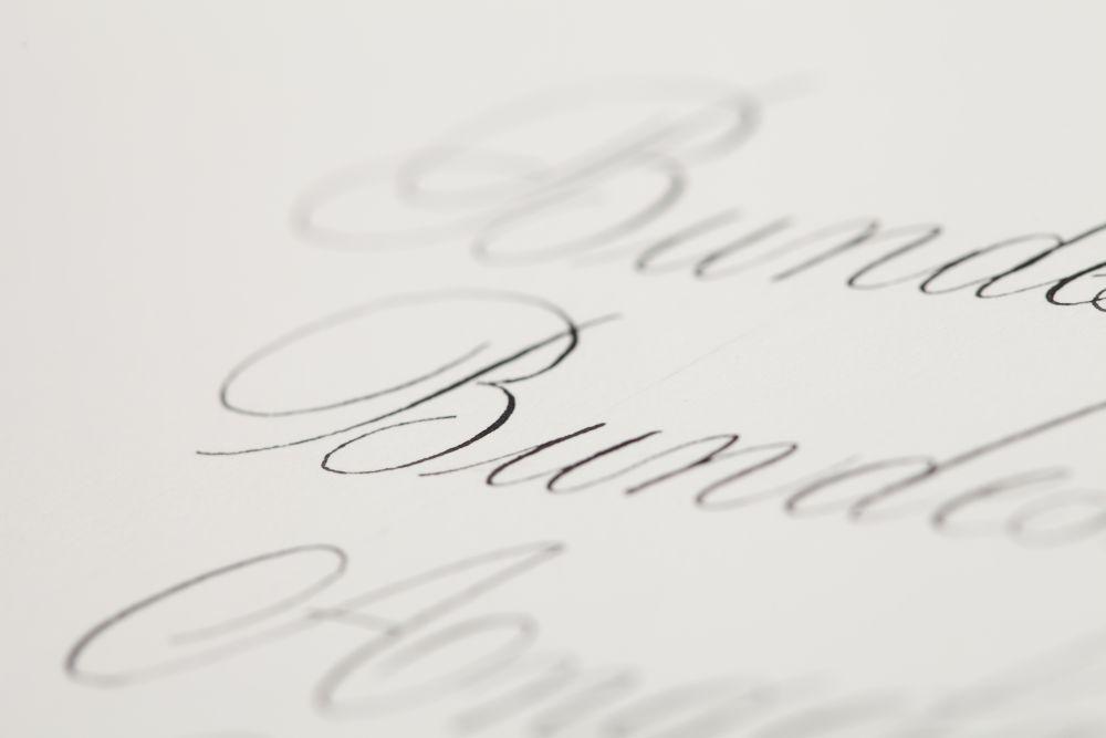 Kalligraphie - Adressen auf Kuverts 035