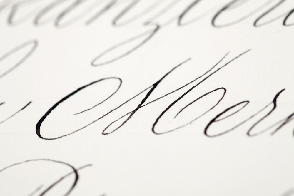 Kalligraphie - Adressen auf Kuverts 038