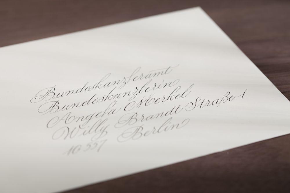 Kalligraphie - Adressen auf Kuverts 042