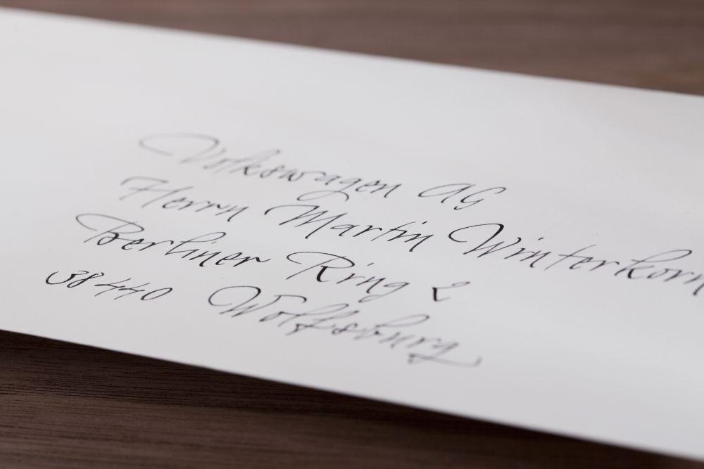 Kalligraphie - Adressen auf Kuverts 044