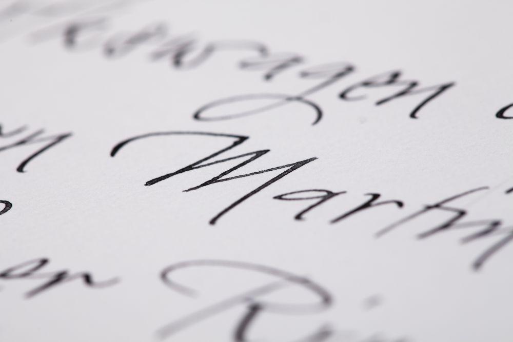 Kalligraphie - Adressen auf Kuverts 047