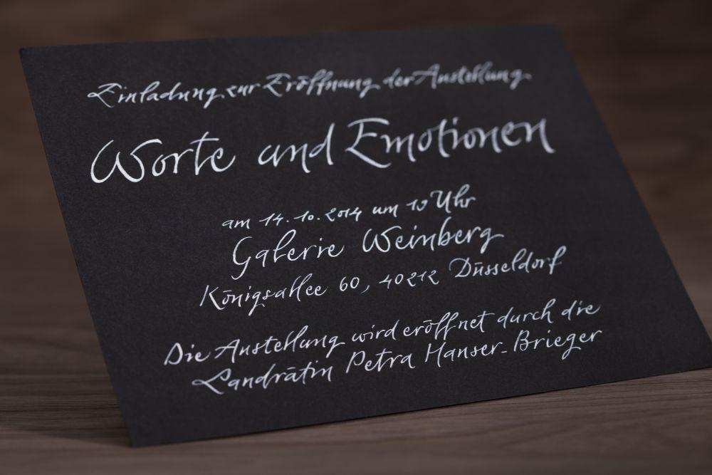 Kalligraphie - Einladungen 011