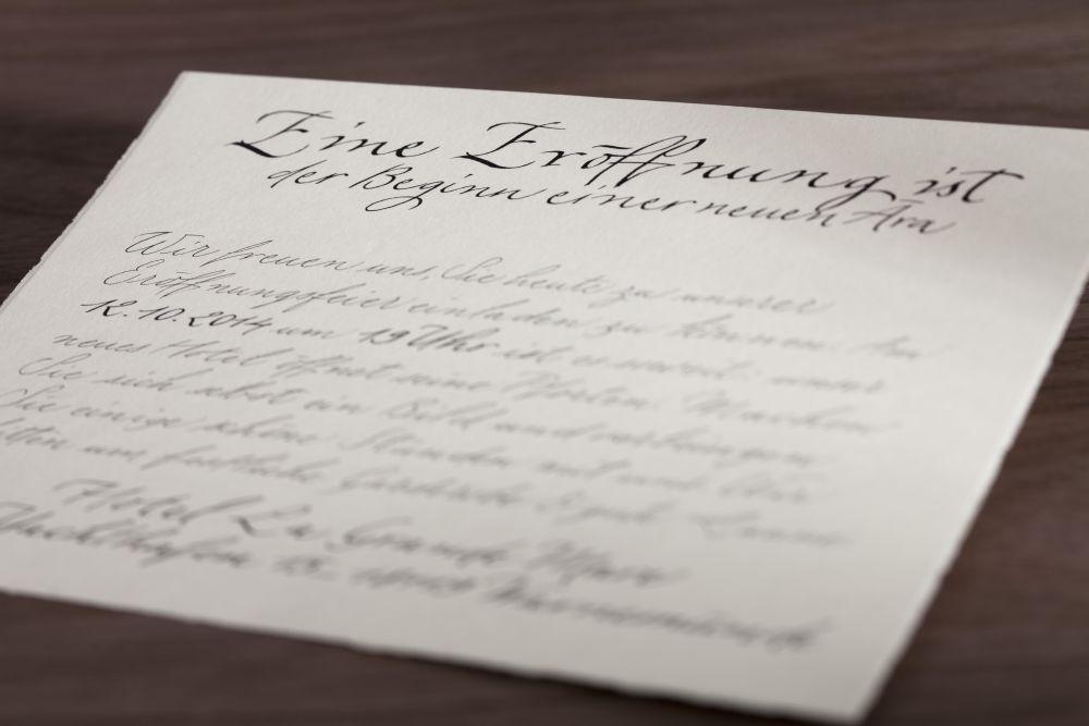 Kalligraphie - Einladungen 027