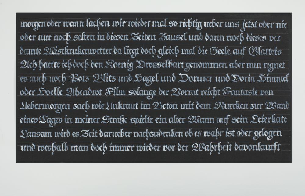 Kalligraphie - Freie Texte 001