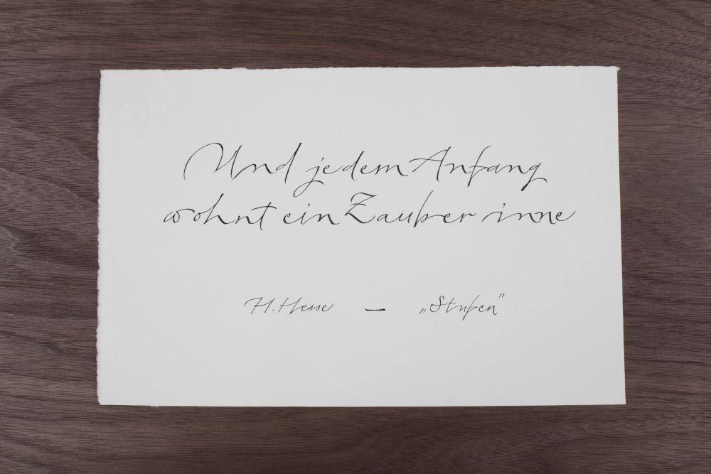 Kalligraphie - Freie Texte 010