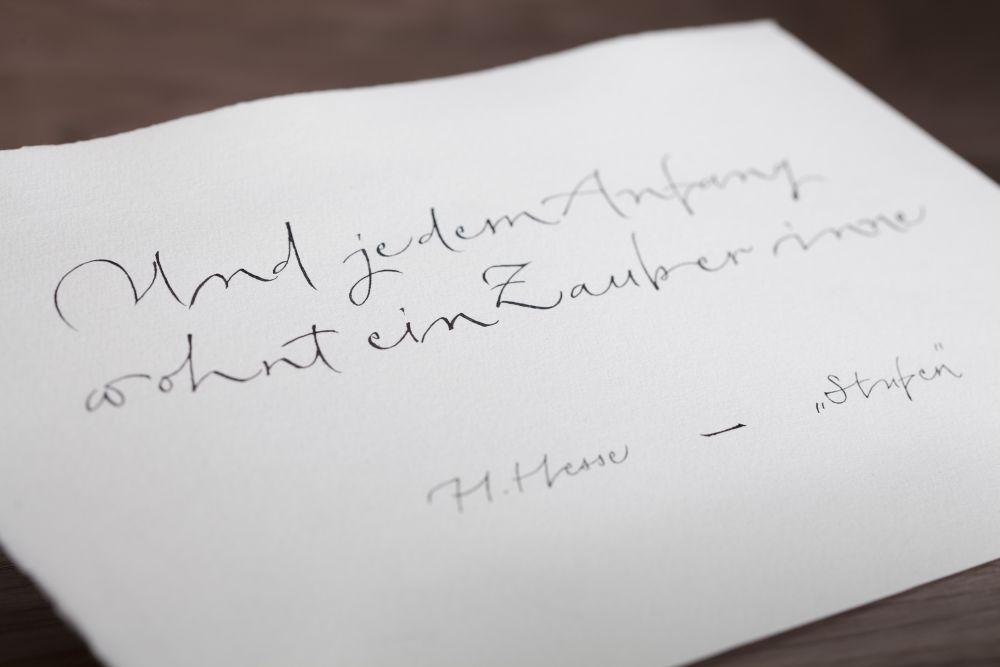 Kalligraphie - Freie Texte 013