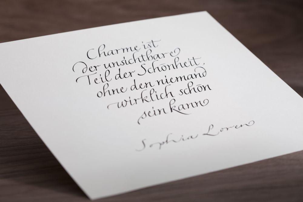 Kalligraphie - Freie Texte 025
