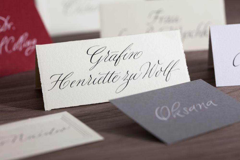Kalligraphie - Tischkarten 004