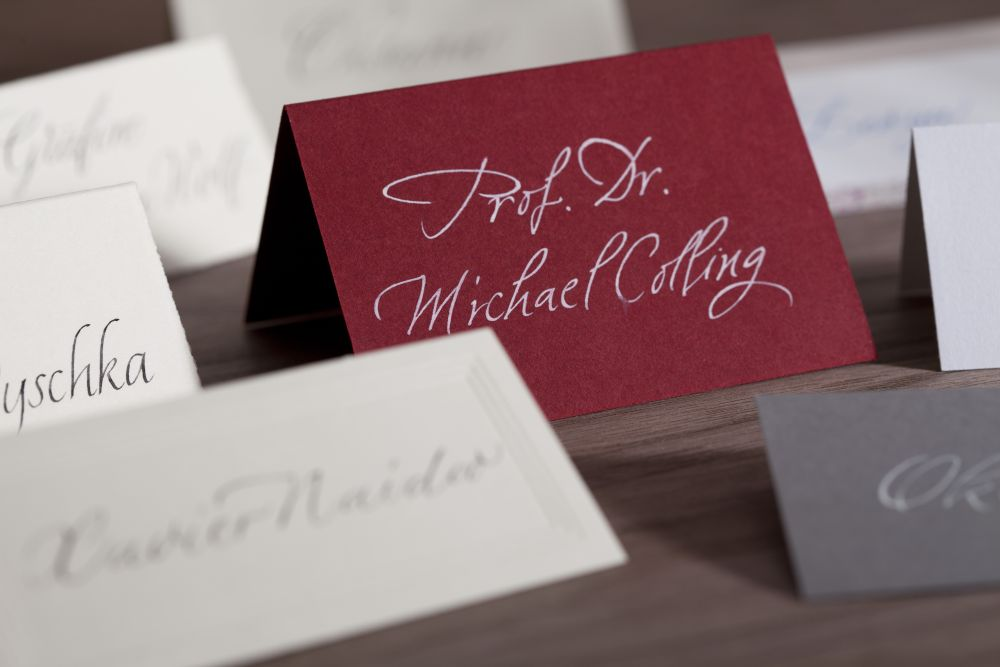 Kalligraphie - Tischkarten 007