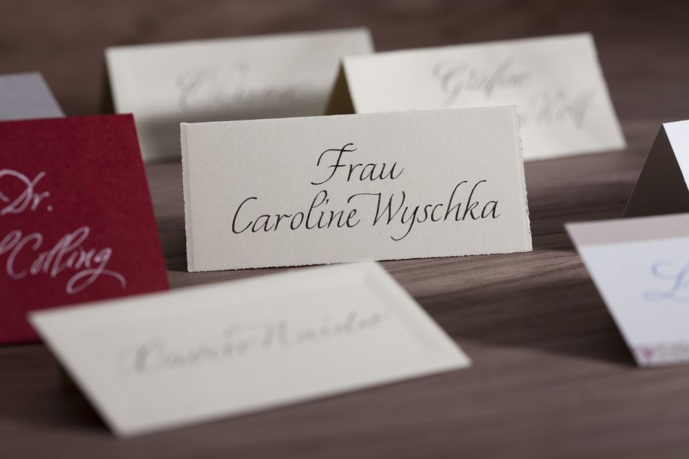 Kalligraphie - Tischkarten 008