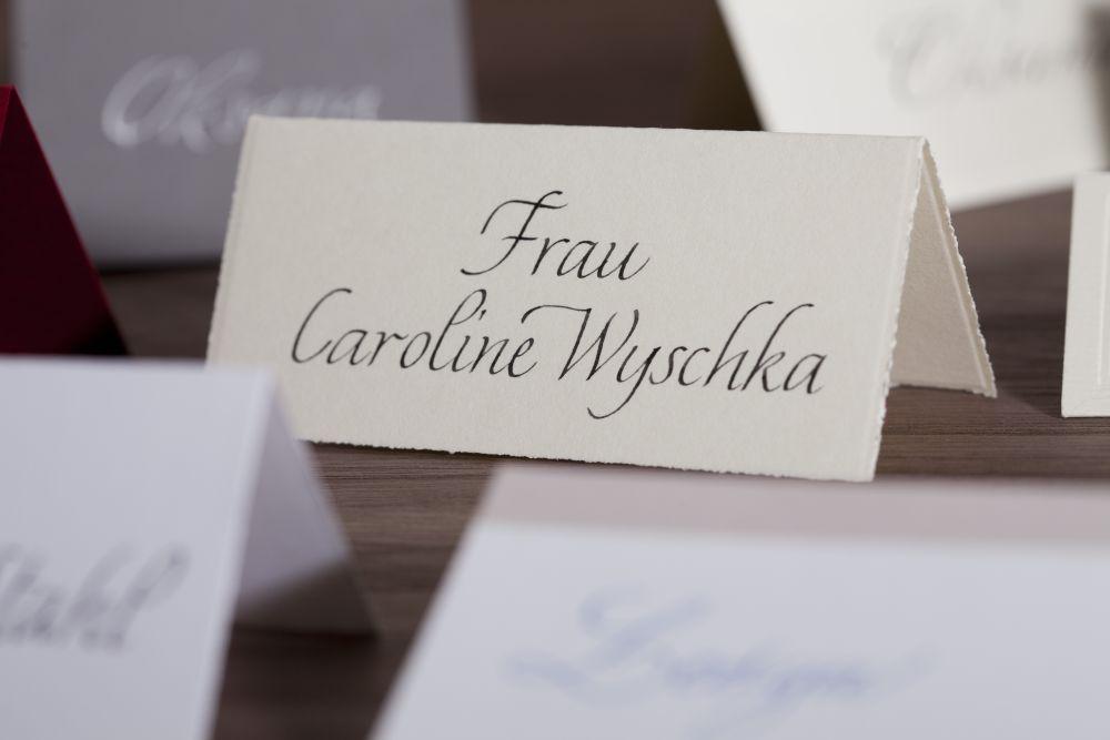 Kalligraphie - Tischkarten 010
