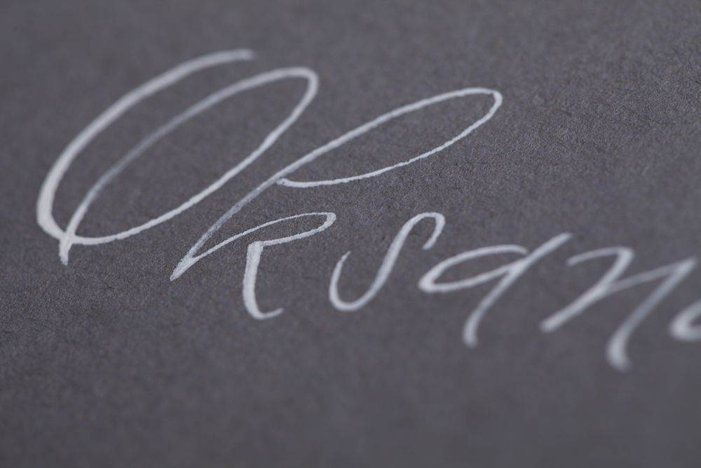Kalligraphie - Tischkarten 031