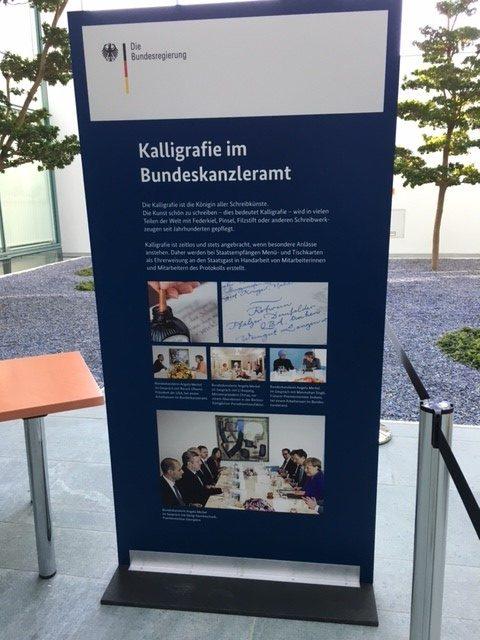 Kalligrafie im Bundeskanzleramt